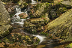 Creek near Velky Stolpich waterfall Royalty Free Stock Images