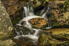 Creek near Velky Stolpich waterfall Stock Images