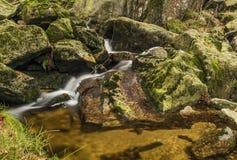 Creek near Velky Stolpich waterfall Stock Photography
