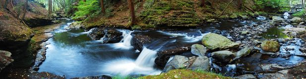 Creek panorama Royalty Free Stock Photography