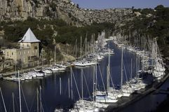 Creek of Port-Miou. And its marina, near Cassis, France Stock Photo