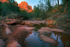 Creek and Red Rocks Stock Image
