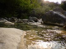 Creek Rio Barbaira in Rocchetta Nervina, Liguria - Italy Stock Images