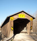 Creek Road Covered Bridge Royalty Free Stock Photos