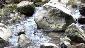 Creek with rocks stock video footage