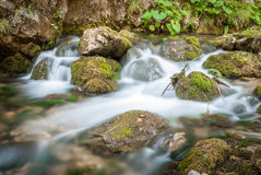 Creek and rocks Royalty Free Stock Photo