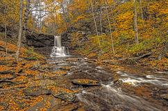 Creek Running Thru the Mountains In Fall Royalty Free Stock Photo
