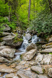 Creek Runs Through Rock in Smokies Royalty Free Stock Photos