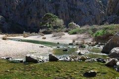 Creek at Sa Calobra Stock Photo