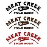 Creek steak house. Meat creek steak house beef royalty free illustration