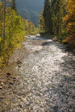Creek Stillach in Allgau near Oberstdorf Royalty Free Stock Photography