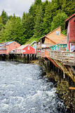 Creek Street. Ketchikan Alaska - former red light district, current shopping area Royalty Free Stock Image