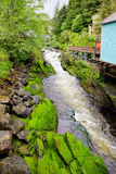 Creek Street. Ketchikan Alaska (upstream end royalty free stock image