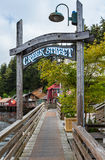 Creek Street Entryway in Ketchikan Royalty Free Stock Images