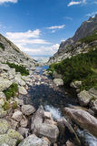 Creek in summer mountains Royalty Free Stock Photos