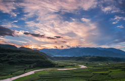 The creek in sunset Stock Photography