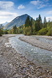 Creek Trettach in Bavaria mit mountain Royalty Free Stock Photography