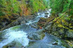 Creek and valley Royalty Free Stock Photography