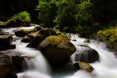Creek Waterfall. Waterfall on hike in columbia river gorge Stock Images
