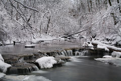 Creek In Winter royalty free stock images
