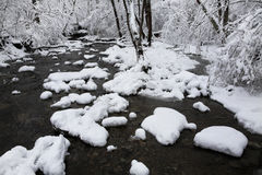 Creek In Winter Royalty Free Stock Photos
