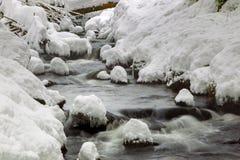 Creek in winter Stock Photos
