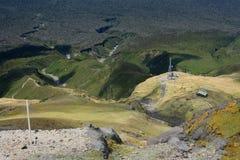 Creeks created by lava flow on Mount Taranaki Stock Photography