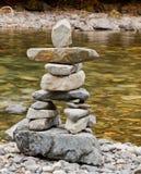 Creekside Inukshuk Royalty-vrije Stock Fotografie
