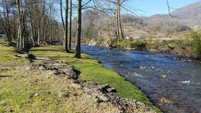 Creekside in North Carolina mountains royalty free stock photo