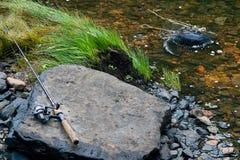 Creekside Rod i rolka Zdjęcie Royalty Free