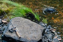 Creekside Rod and Reel Royalty Free Stock Photo