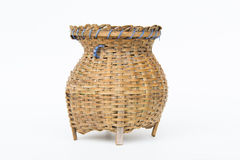 'creel'bamboo container. For caught fish, a fishtrap Stock Image