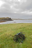 Creel on Oronsay. An old fishing creel on the Island of Oronsay, Skye Royalty Free Stock Photo