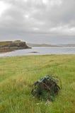 Creel on Oronsay. An old fishing creel on the Island of Oronsay, Skye royalty free stock photo