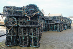 Creels Stacked In The Docks Stock Photo