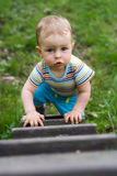 Creeping boy Stock Photo