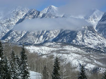Creeping Fog. Cloud cover coming in at higher elevation in the Colorado Rocky Mountains stock photography