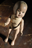 Creepy antique doll Royalty Free Stock Photography