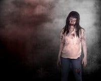 Creepy asian female zombie Stock Photos