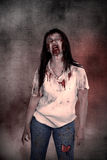 Creepy asian female zombie Stock Photography