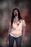 Creepy asian female zombie Stock Photography