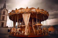 Creepy Carousel Royalty Free Stock Images