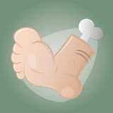 Creepy cartoon foot Stock Photos