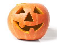 Creepy carved pumpkin face Royalty Free Stock Photos
