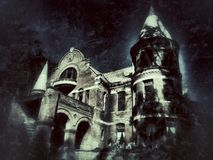 Creepy Castle stock photos