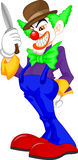 Creepy clown cartoon Stock Image
