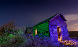 Creepy Colorful Shack Stock Photos