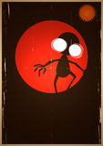Creepy creature background Stock Images