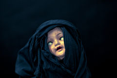 Creepy doll face Royalty Free Stock Images