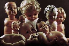 Creepy dolls Stock Photography